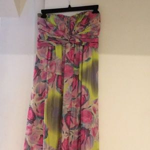 jessica simpson strapless maxi dress